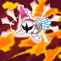 Galacta knight and his powers by RubyHalogenknight