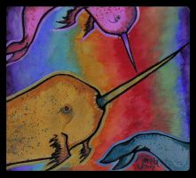 mystical narwhals by Migratory-Coconut