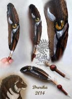 Gift: Nevayrah Feather Painting by Drerika