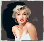 Marilyn paint practice final by bmxchik