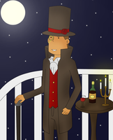 Monocle Layton by kenabe