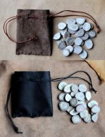New standard sized antler divination sets by lupagreenwolf