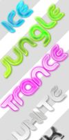 3D Vibrant Text Styles by ArtoriusGothicus