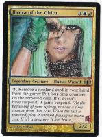 Magic Card Alteration: Lady Gaga Jhoira by Ondal-the-Fool
