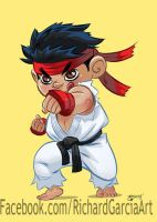 Lil' Scrap Fighter Ryu by irongiant775