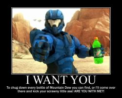 Halo 4 Mountain Dew-(Poster) by XPvtCabooseX