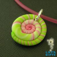 Watermelon Colored Clay Spiral by CakeToppers