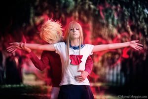 Love is sacrifice, Aika and Mahiro cosplay by hakucosplay