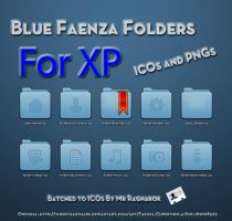 Blue Faenza Folders for XP by Mr-Ragnarok