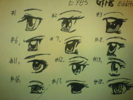 Anime Girls Eyes  parts by kevinzhang9112