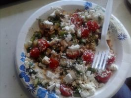 home made Greek Salad by Fallonkyra