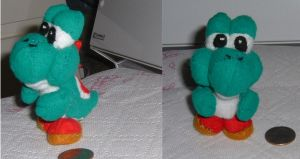 mini Yoshi plush by intrepidThrough