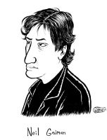 Neil Gaiman by SethWolfshorndl
