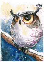 Snow owl by bemain