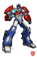 Optimus Prime TF Prime by Dan-the-artguy