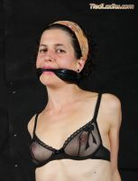 Suzie, tightly cleave gagged in sheer bra. by PhMBond