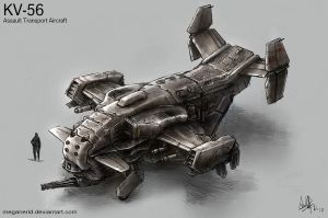 KV-56 Assault Transport Aircraft by MeganeRid