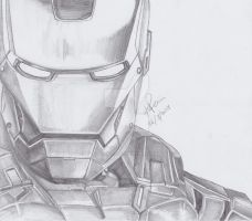 Iron Man Pencil Drawing by KimikoRei07