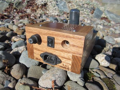 Miniature Tube Guitar Amp (Back View) by MongoTheManiac