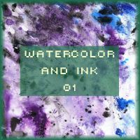 Watercolor and Ink 01 by FancyOctopusResource