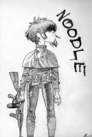 noodle with a gun by marina-the-hedgehog