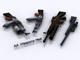 AAO Weapons Mod Wallpaper by anuj471