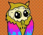 Psychedelic Owl by creecreehoneybees