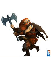 Dwarf Barbarian by Haclif