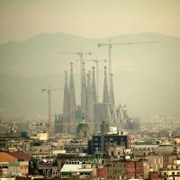 Sagrada Familia by Airplane