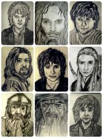 The fellowship of the ring by Laur by LauriennAmonteth