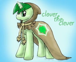 my design of (CLOVER THE CLEVER I NEED YOU) by BlueAcrylicFox