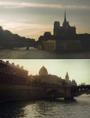Sunset in Paris by drizzledust
