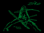 One Piece Scratch Art  Roronoa Zoro by RnTkakashi