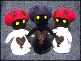 Mushroom Heartless Plushies by 2sadsexually