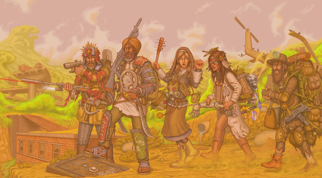 Wasteland2: Team Echo by a20t43c