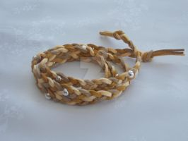 Wraparound suede bracelet brown by Quested-Creations