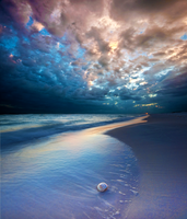 Cosmic Beach Premade Background by little-spacey