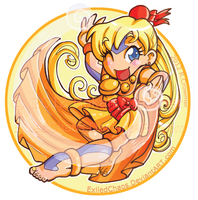ChibiAirbender Mina : Button by ExiledChaos