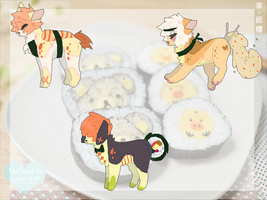 Sushi Theme AdoptBatch (0/3 CLOSED) by HotaruSenpai
