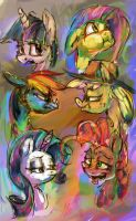 Colorful ponies by Alumx