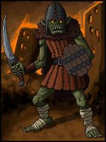 Goblin Warrior by Grinning-Oni
