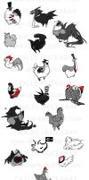 Background Chickens by bezzalair