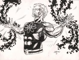 Ditko's Captain Atom by pdLondon
