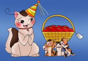 Buon compleanno mama!! by Ask-NekoSouthItabby2