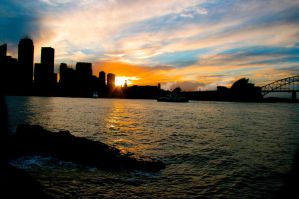 Sunset In Circular Quay by Andrezao
