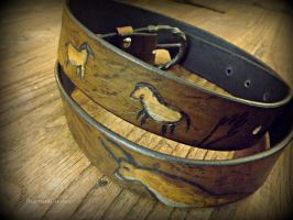 Lascaux Cave Painting Belt - Wrapped by The-Beast-Man