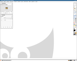 My GIMP 2.6 custom work area by kErNeL-sCrIpT