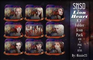 SNSD Lion Heart Folder Icon Pack Version 1 by Rizzie23