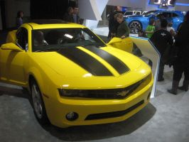 2013 Chevorlet Camaro Yellow and Black Stripes by granturismomh