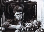 tony montana scarface by KondaArt